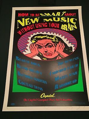 Radiohead Beastie Boys Capital Records Silkscreen Promo TAZ poster Signed