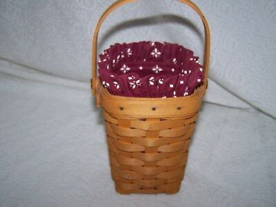 LONGABERGER TRADITIONAL RED LINER ONLY for 98 HOH HORIZON OF HOPE BASKET NIB