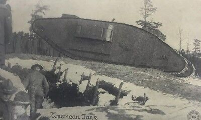 American Tank In Action Chicago Daily News Postals G J Kavanaugh War Postal Card