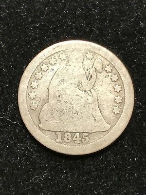 1845-O Seated Liberty Dime**KEY DATE Only 230k Minted. Affordable Coin