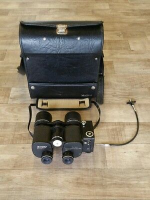 NICNON 7X50 Binocular Ricoh Half Frame Motorized Camera with Leather Case