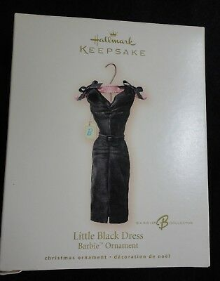 Hallmark Christmas Tree Ornament - Barbi Little Black Dress 2007 - NEW IN BOX