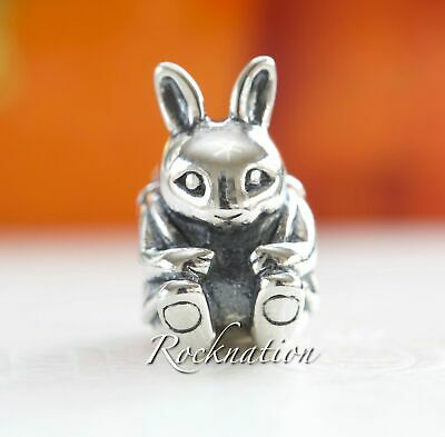 Authentic Pandora Sterling Silver Easter Bunny Rabbit Charm 791121 **Retired**