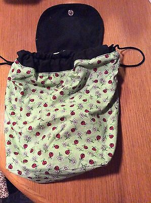 Longaberger Backpack-Lady Bug with Daisies