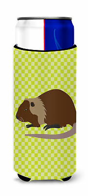 Coypu Nutria River Rat Green Michelob Ultra Hugger for slim cans