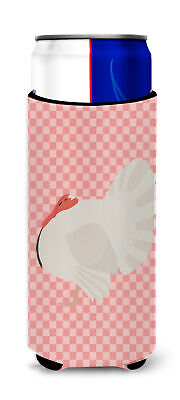 White Holland Turkey Pink Check Michelob Ultra Hugger for slim cans