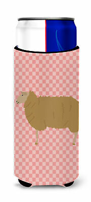 East Friesian Sheep Pink Check Michelob Ultra Hugger for slim cans