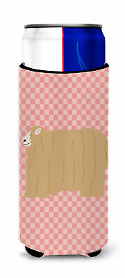 Lincoln Longwool Sheep Pink Check Michelob Ultra Hugger for slim cans