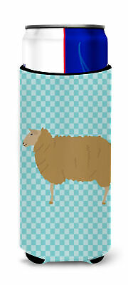 East Friesian Sheep Blue Check Michelob Ultra Hugger for slim cans
