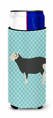 Herwick Sheep Blue Check Michelob Ultra Hugger for slim cans