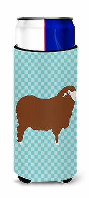 Merino Sheep Blue Check Michelob Ultra Hugger for slim cans