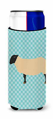 Suffolk Sheep Blue Check Michelob Ultra Hugger for slim cans