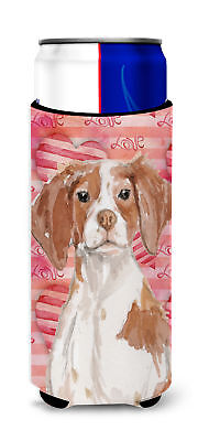 Brittany Spaniel Love Michelob Ultra Hugger for slim cans