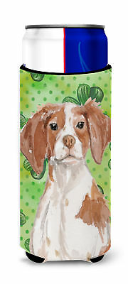 Brittany Spaniel St. Patrick's Michelob Ultra Hugger for slim cans