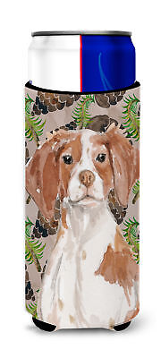 Brittany Spaniel Pine Cones Michelob Ultra Hugger for slim cans