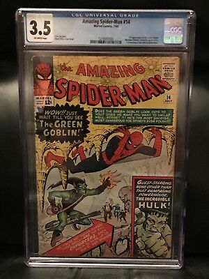 The Amazing Spider-Man 14! CCG 3.5! OW Pages! 1st Appearance Of Green Goblin!