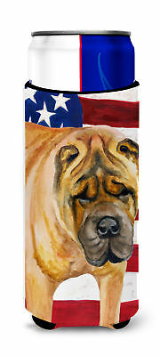 Shar Pei Patriotic Michelob Ultra Hugger for slim cans