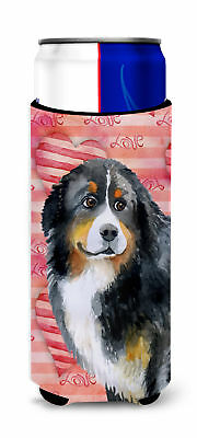Bernese Mountain Dog Love Michelob Ultra Hugger for slim cans