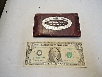 vintage Hamilton Brown Shoe Co., Grand Leader, San Bernardino, CA Adv. Wallet NR