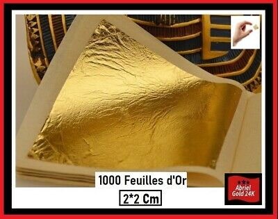 1000 feuilles d' Or 24 K Carats Veritable Gold Leaf paper sheets