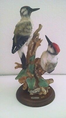 Capodimonte Giuseppe Armani Woodpeckers Florence 1982 Signed