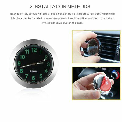 Mini Small Car Auto Clock Air Vent AuLuminous Interior Quartz Analog Watch New