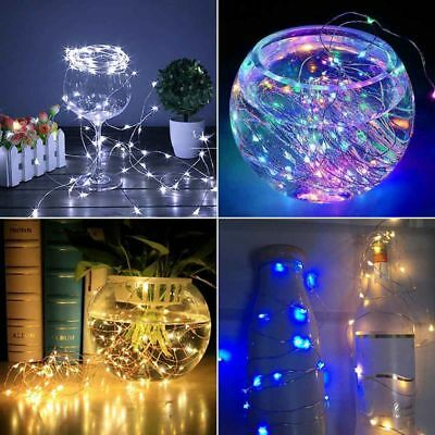 100 LED Battery Micro Rice Wire Copper Fairy String Lights Party