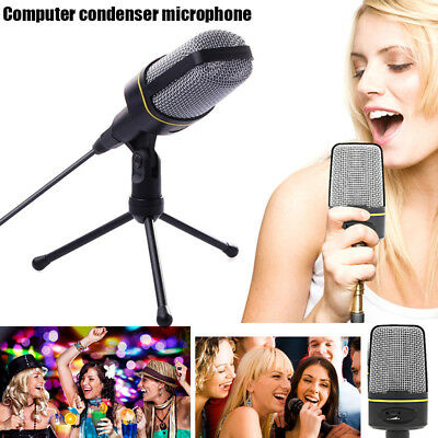 Microphone Audio Recording +Stand Tripod Adjustable Rotatable For Computer PC