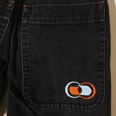 JNCO 26in Double Barrel Jeans Size 7 Double Girlie Stuff Skate Rave Black VTG