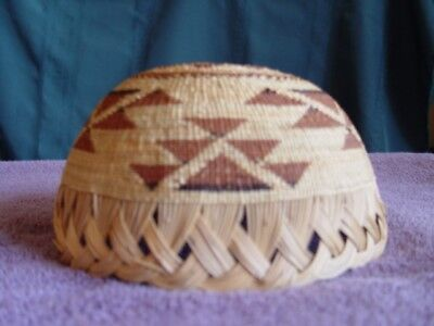 Antique Native American Hupa/karuk/yurok Basket Hat Excellent Condition!!!