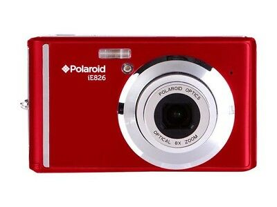 POLAROID IE826-RED 18MP DIGITAL STILL CAMERA with 2.4in Screen RED Top Quality