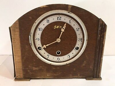 Vintage Ben Time Wooden Mantel / Carriage Clock - Mechanical Windup (Spares)