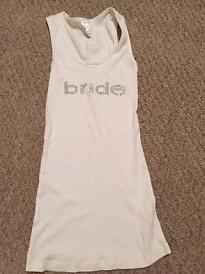 Bride Tank Top Size Medium