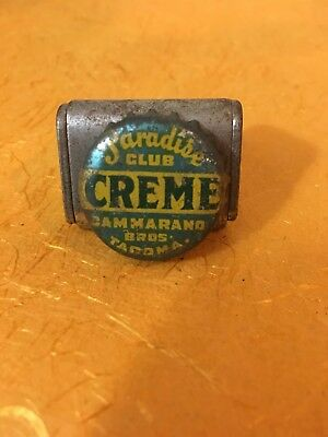 Paradise Club Creme soda pop bottle crown cap Tacoma Washington WA