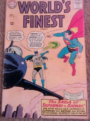 World's Finest #153 Batman and Superman DC 1965 Silverage