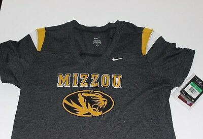 New Nike Mizzou Tigers Women's Large V Neck Jersey Fan Tee Logo $35.00