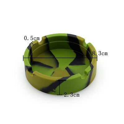 1/4Pcs 4 Type Camouflage Eco Friendly Silicone Unbreakable Ashtray Ash Holder GN