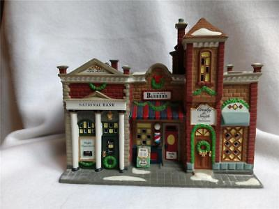 1997 Department 56 Christmas in the City Series Riverside Row Shops NO Box/Light