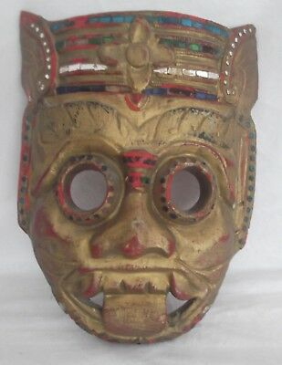 Mask, Wooden, Carved, Vintage from Thailand