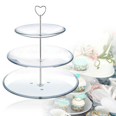 5pcs 3 Tier Vintage Wedding Cake plate tiered Stand DIY Heavy Fitting 4 Colors