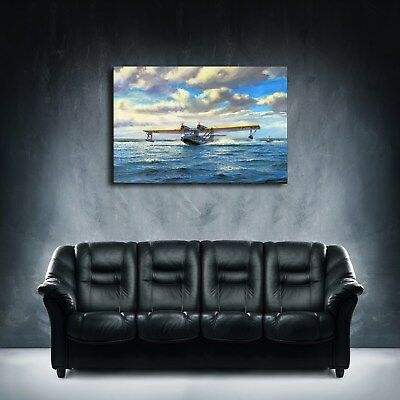 "Seaplane 16""x24"" HD Canvas Prints Painting Home Decor Picture Wall Art Poster"