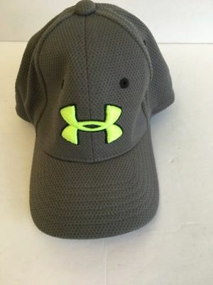 Toddler small ages 1-3 Under Armour baseball athletic hat cap Gray & Neon Yellow