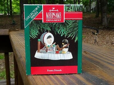 Rare New 1991 Hallmark 12Th Frosty Friends Eskimo Christmas Ornament - Gorgeous