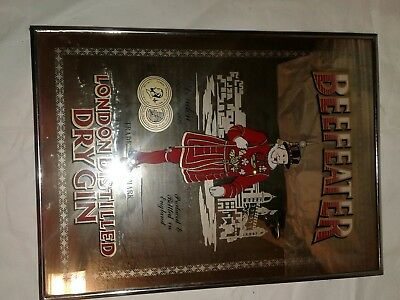 Vintage Beefeater Dry Gin Mirror/Bar Sign