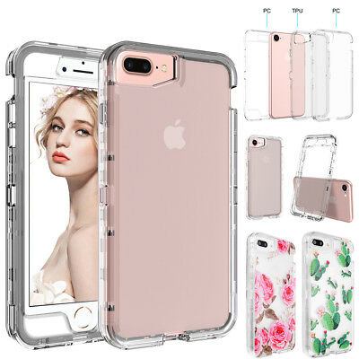 For iPhone XS Max X 7 8 6s Plus Clear Full Shockproof Hard Heavy Duty Case Cover
