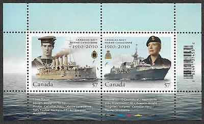 Canada Stamps - Souvenir Sheet of 2 - Canadian Navy Centennial #2384 - MNH