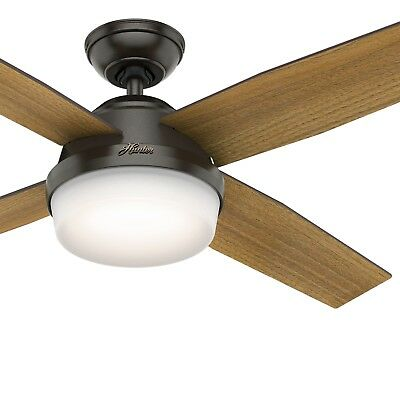 Hunter Fan 52 inch Contemporary Nobel Bronze Ceiling Fan with Remote Control