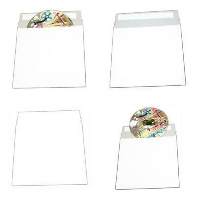 """Large White Cardboard Cd Mailer  6"""" X 6-3/8"""" With Adhesive Flap - 50 Pack"""