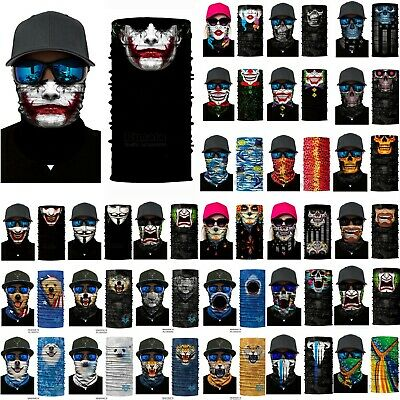 Men Women Halloween Clown Bandanas Face Neck Mask Motorcycle Cycling Tube Scarf