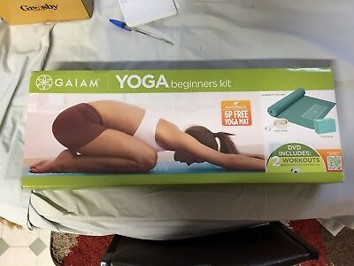 Gaiam Beginner's Yoga Kit -NEW / Mat / Brick / Strap / DVD RODNEY YEE